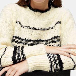 topshop knit mock neck sweater